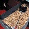 Detalle de chimenea de pellets: deposito