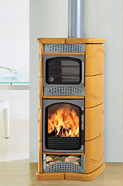 Estufas de le a energon renovables - Estufas con horno de lena ...